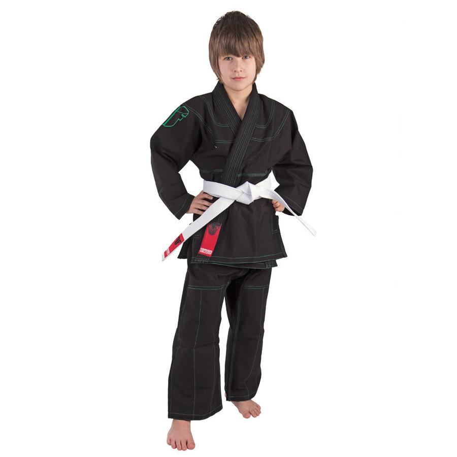 Černé kimono na jiu-jitsu Fighter