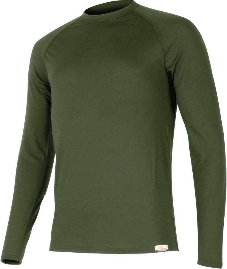 Zelené pánské tričko s dlouhým rukávem Lasting - velikost M