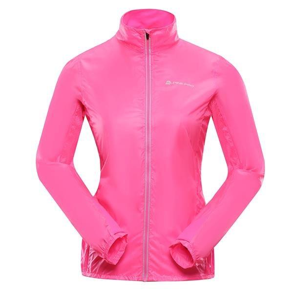 Růžová dámská bunda - větrovka Alpine Pro - velikost XXL