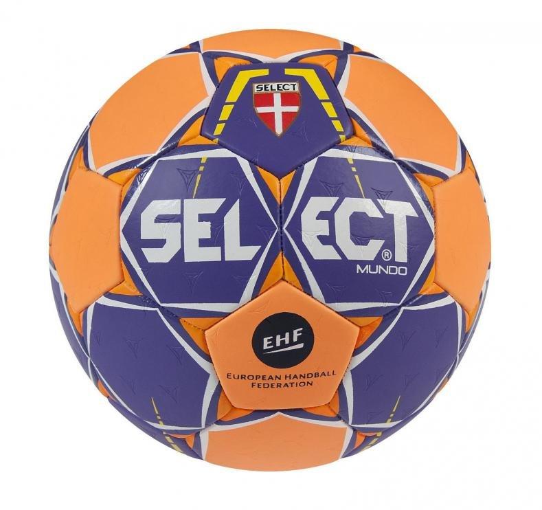 Modro-oranžový míč na házenou MUNDO, Select - velikost 1
