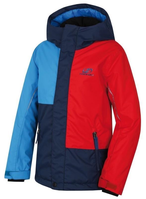Červeno-modrá dětská lyžařská bunda Hannah - velikost 116