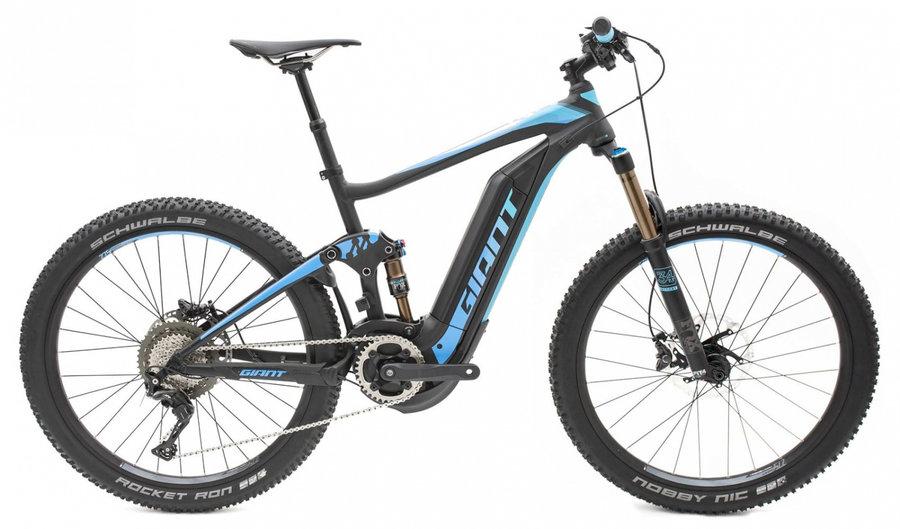 Černo-modré horské elektrokolo Full-E+ 0 Pro 2018, GIANT