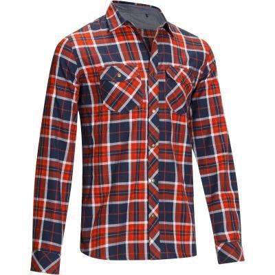Červeno-modrá pánská jezdecká košile s dlouhým rukávem Okkso