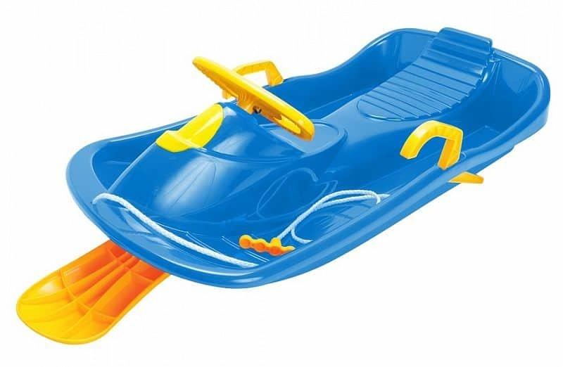 Modré dětské boby s volantem Dantoy
