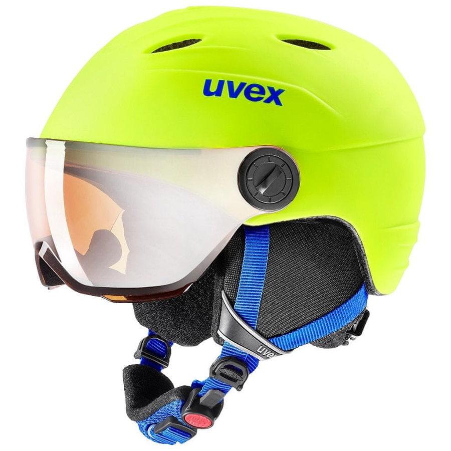 Žlutá dětská lyžařská helma Uvex - velikost 52-54 cm
