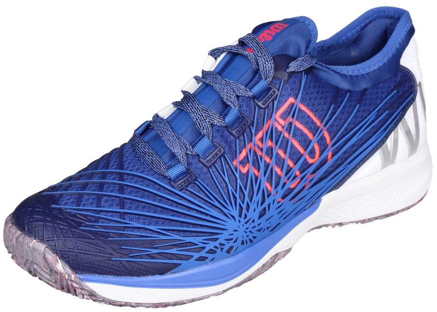 Modrá pánská tenisová obuv Kaos 2.0 SFT Clay Court, Wilson - velikost 42 EU