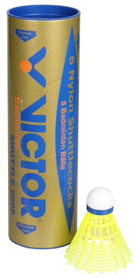 Plastový badmintonový míček Victor - 6 ks