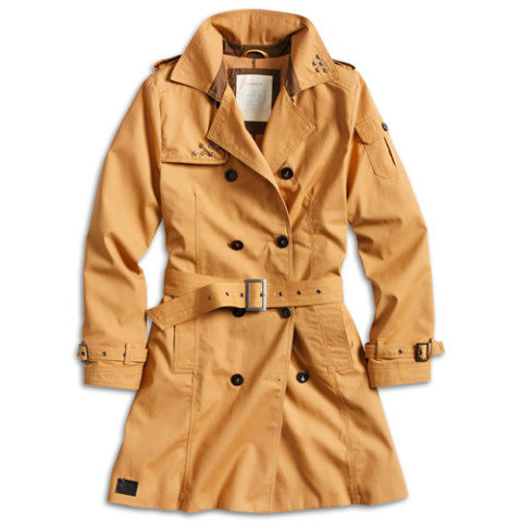 Kabát - Doprodej Kabát TRENCHCOAT dámský HNĚDÝ