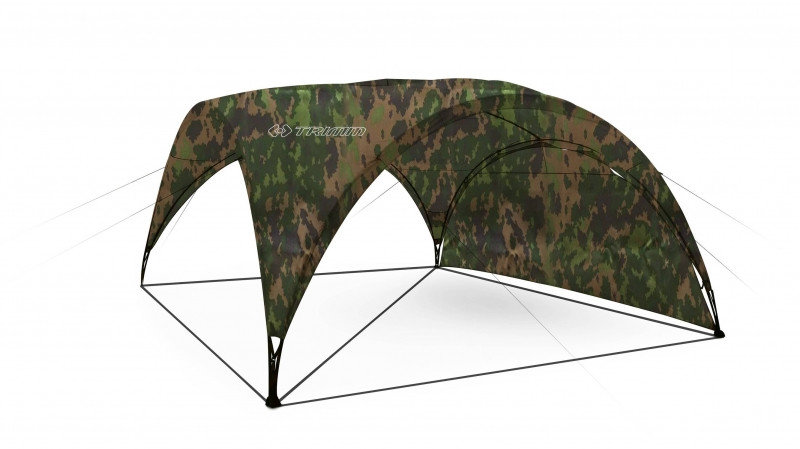Maskáčový párty stan Trimm - délka 4,5 m a šířka 4,5 m