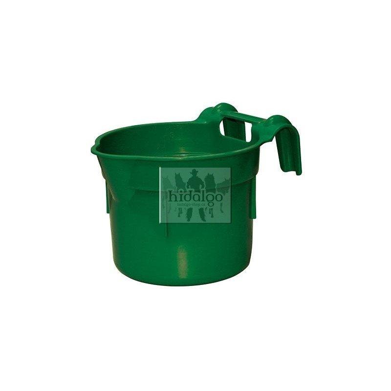 Zelený plastový závěsný kruhový žlab - objem 8 l