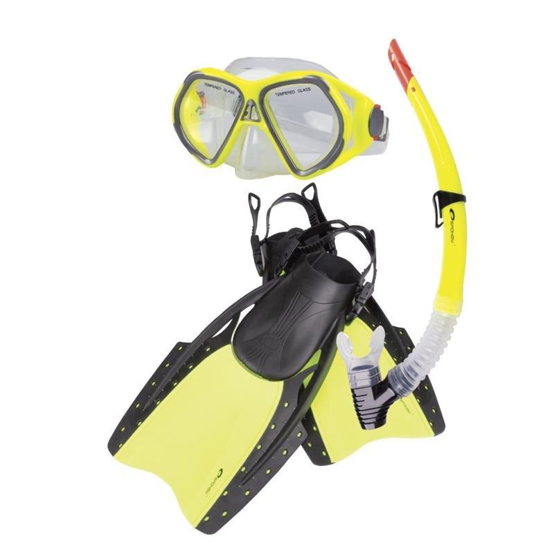 Potápěčská sada - SPOKEY - REEF-Sada brýle + šnorchl + ploutve S / M 38-41