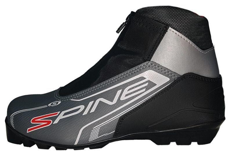 Černo-šedé boty na běžky Skol - velikost 36 EU