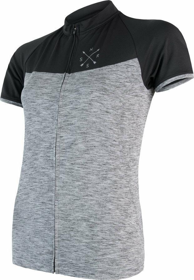 Černo-šedý dámský cyklistický dres Sensor - velikost L