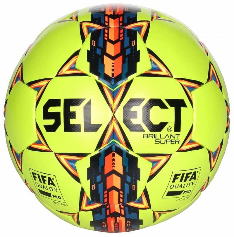 Fotbalový míč - Select Brillant Super barva: bílá-modrá;velikost míče: č. 5