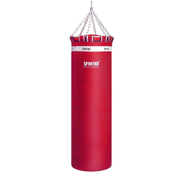 Červený boxovací pytel SportKO - 65 kg