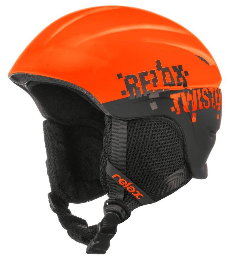 Oranžová dětská lyžařská helma Relax - velikost S