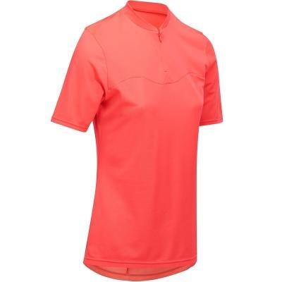 Růžový pánský nebo dámský cyklistický dres B'TWIN