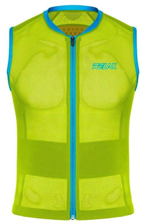 Žlutý dětský chránič páteře na lyže Relax - velikost XXS