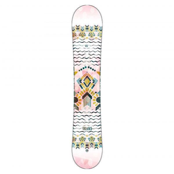 Bílý dámský snowboard bez vázání Trans