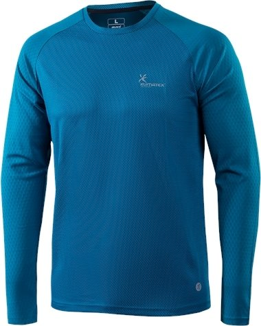 Modré pánské běžecké tričko Klimatex - velikost S