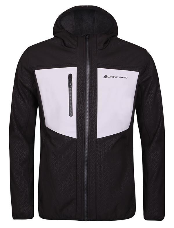 Černá softshellová pánská turistická bunda Alpine Pro - velikost S