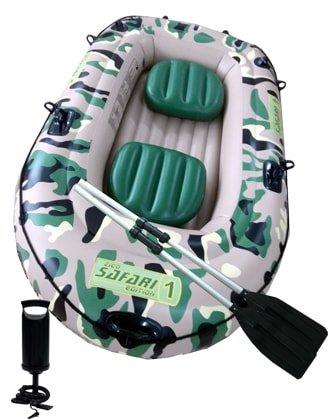 Maskáčový nafukovací člun s nafukovacím dnem pro 1 osobu Safari 1, ZICO