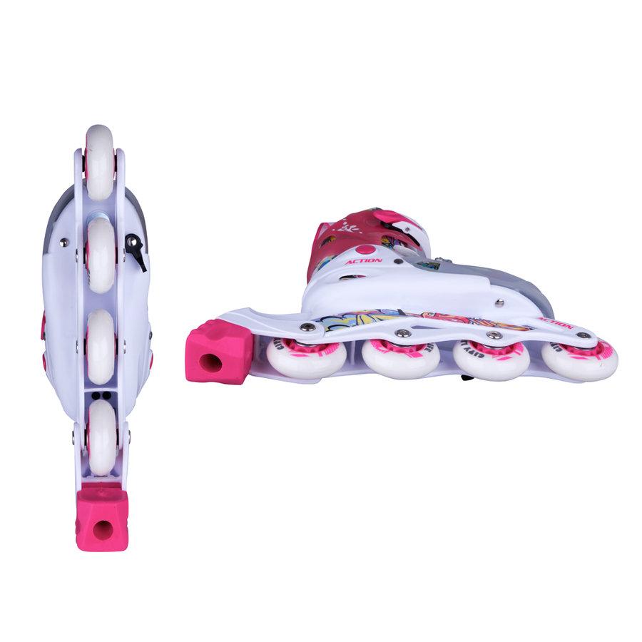 Růžové dívčí kolečkové brusle Doly, Action - velikost 30-33 EU