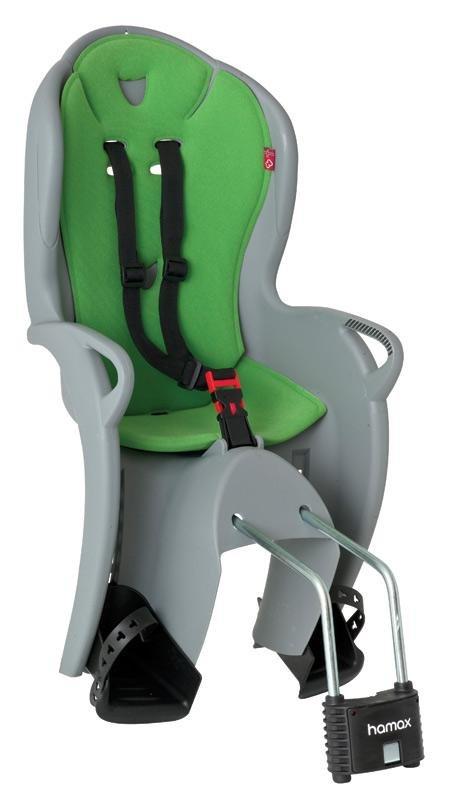 Šedo-zelená dětská sedačka na kolo Hamax - nosnost 22 kg