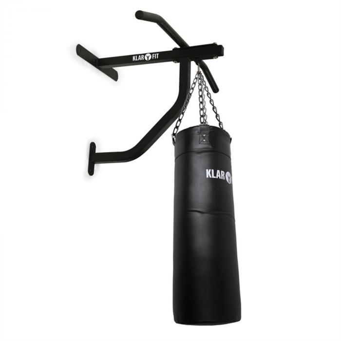 Kovová nástěnná hrazda s boxovacím pytlem Klarfit