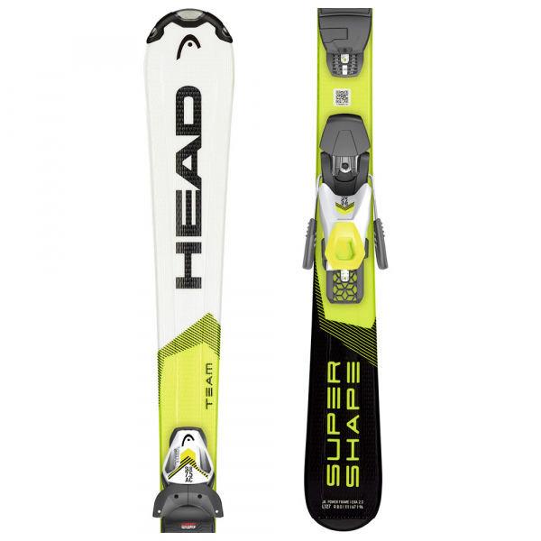 Bílo-žluté dětské lyže s vázáním Head
