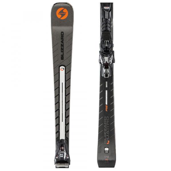 Šedé lyže s vázáním Blizzard - délka 170 cm