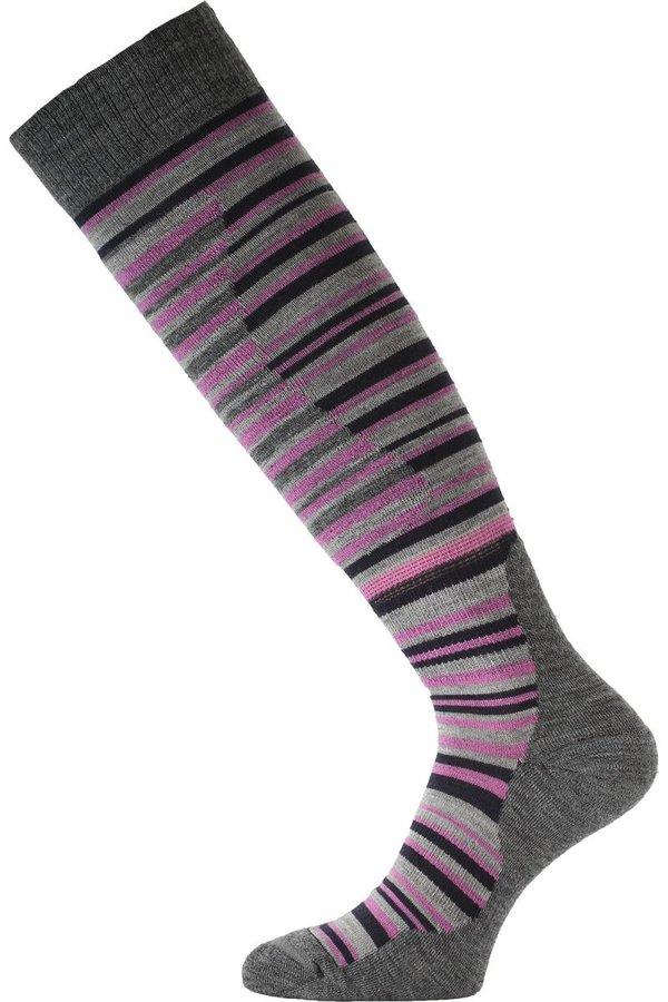 Růžovo-šedé pánské lyžařské ponožky Lasting - velikost 42-45 EU