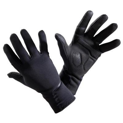 Černé unisex cyklistické rukavice B'TWIN