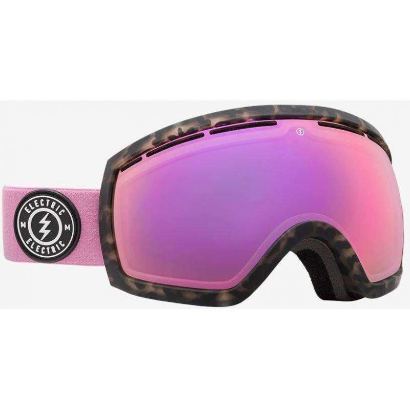 Růžové brýle na snowboard Electric
