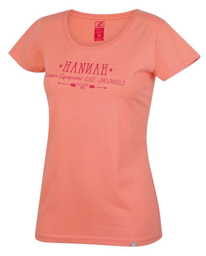 Oranžové dámské tričko s krátkým rukávem Hannah - velikost 34