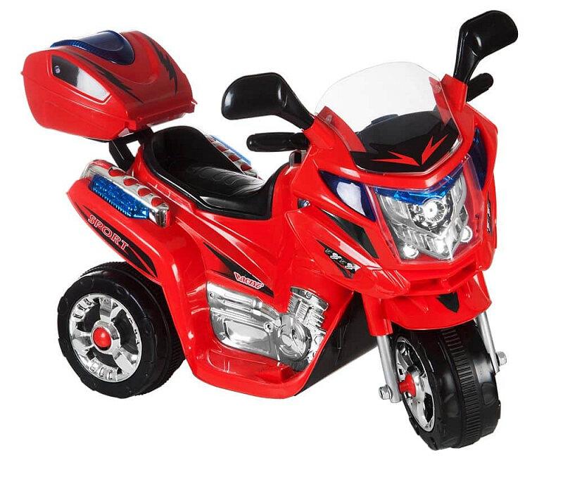 Červená dětská elektrická motorka Rallye, Kids World