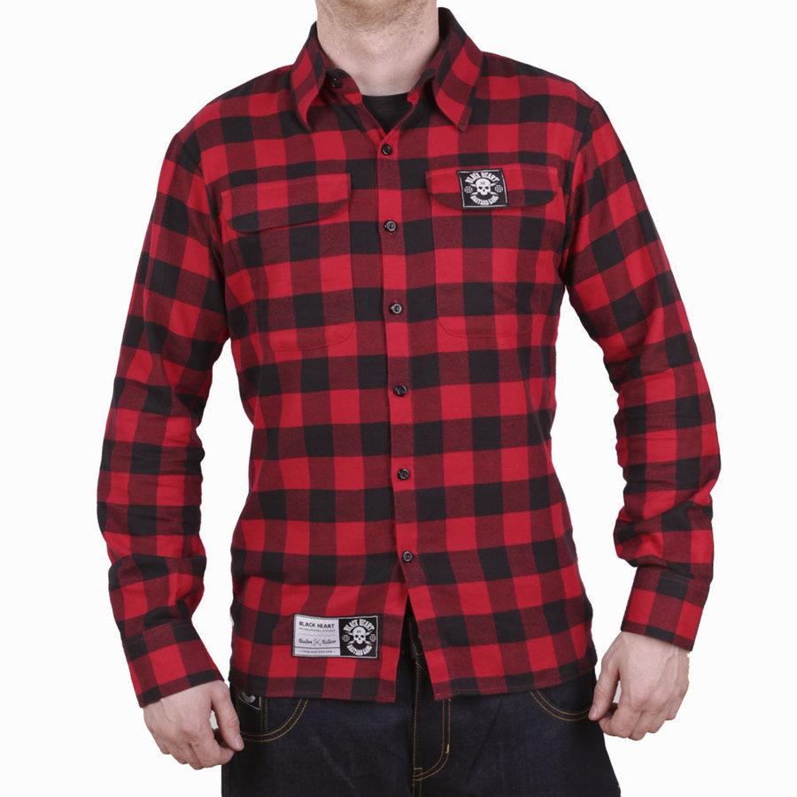Černo-červená pánská košile s dlouhým rukávem Blackheart