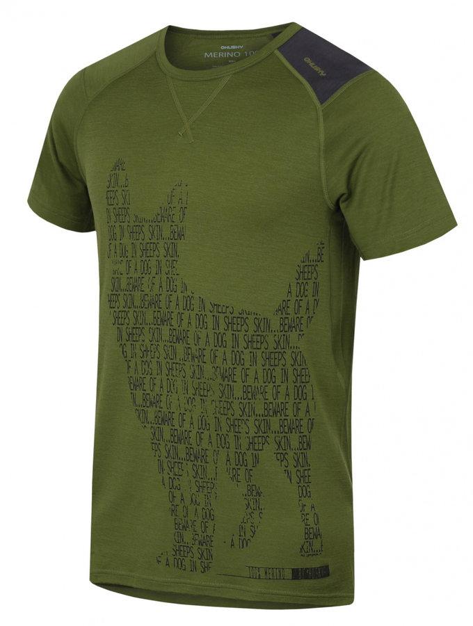 Zelené pánské termo tričko s krátkým rukávem Husky - velikost XL