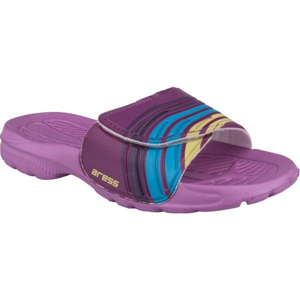 Fialové dívčí pantofle Aress