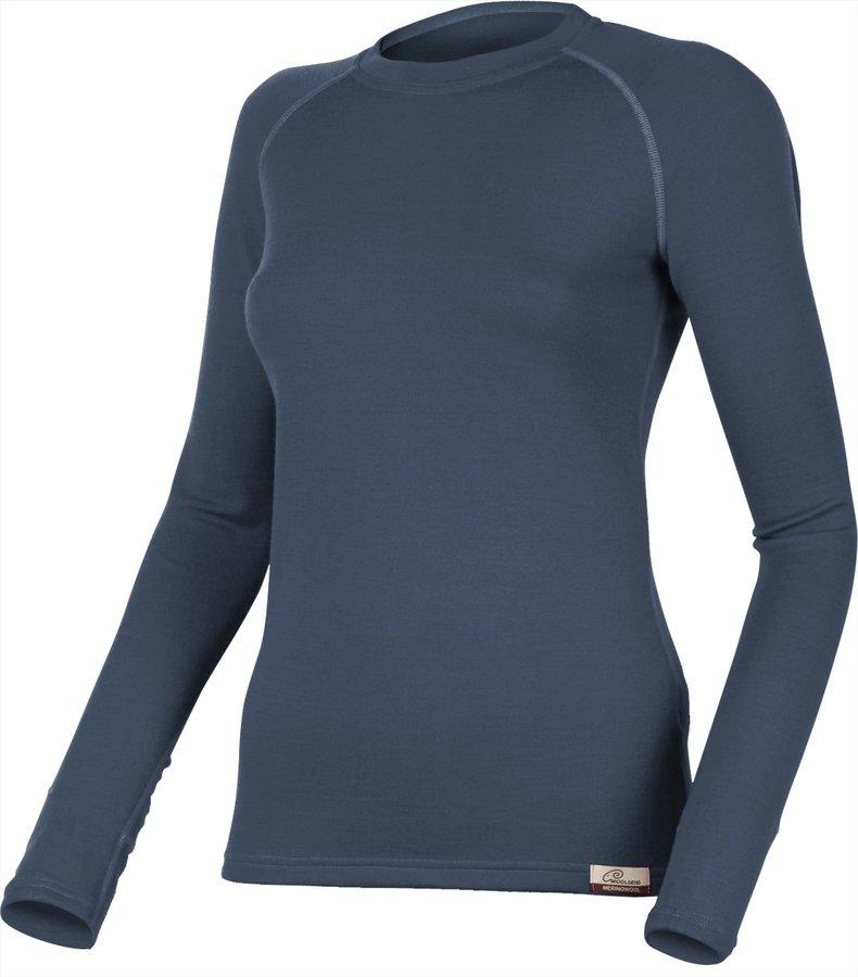 Modré dámské tričko s dlouhým rukávem Lasting - velikost XL