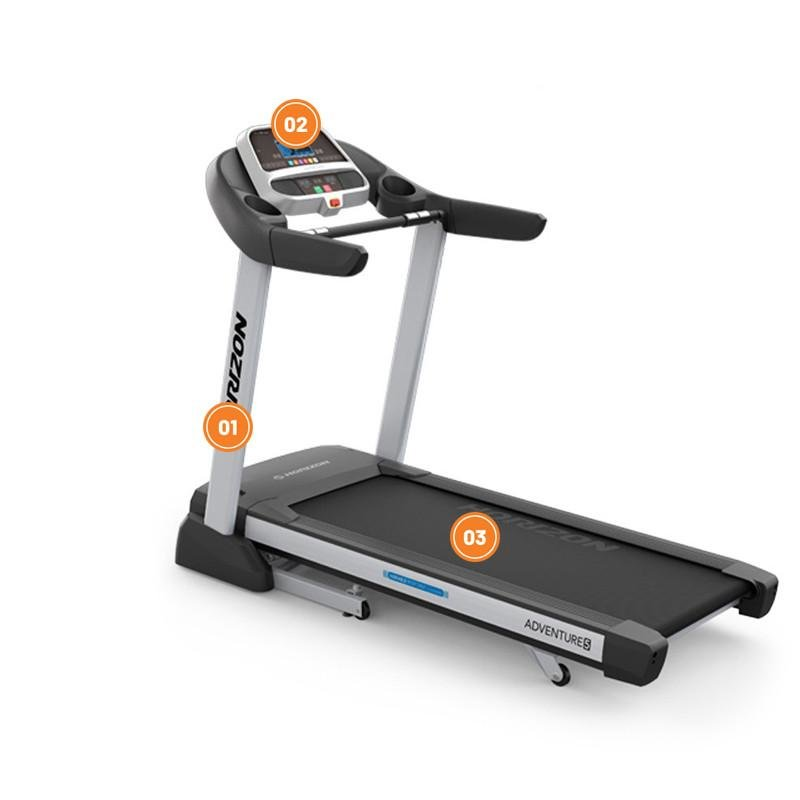Běžecký pás Adventure 5, Horizon Fitness - nosnost 148 kg