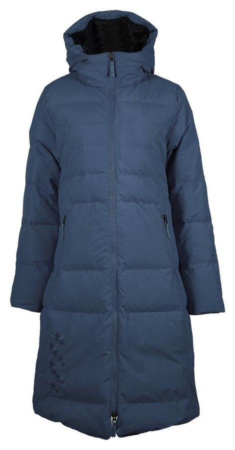 Modrý zimní dámský kabát Skhoop