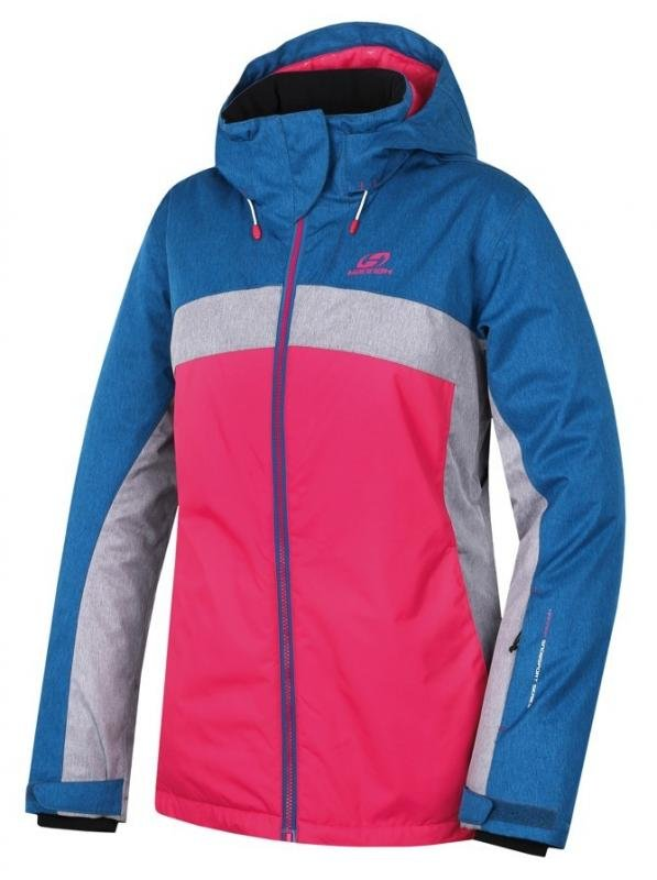 Modro-růžová zimní dámská bunda s kapucí Hannah - velikost 34