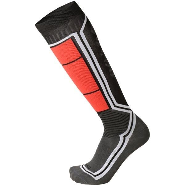 Černo-červené lyžařské ponožky Mico