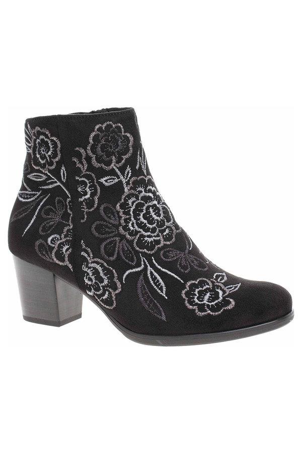 Černé dámské zimní boty Gabor
