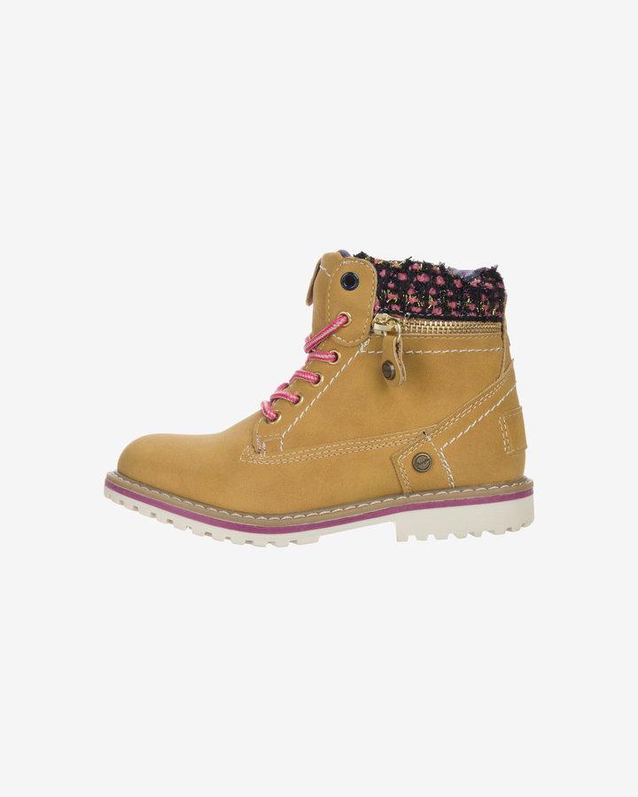Žluté dětské dívčí kotníkové boty Wrangler - velikost 31 EU