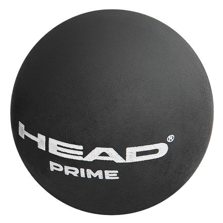 """Černý míček na squash """"dvojitá žlutá tečka"""" Head - 1 ks"""