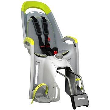 Šedo-zelená dětská sedačka na kolo zadní umístění Hamax - nosnost 22 kg