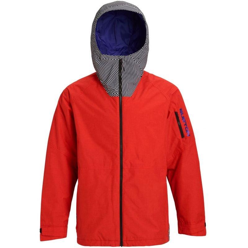 Červená pánská snowboardová bunda Burton - velikost L