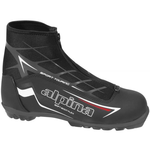 Černé pánské boty na běžky Alpina - velikost 38 EU